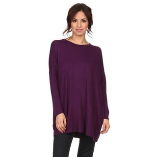 MOA Collection Women's Solid Draped Top