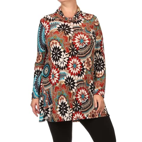 MOA Collection Women's Plus Size Abstract Top
