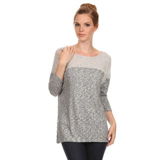 MOA Collection Women's Two-Tone Relaxed Top