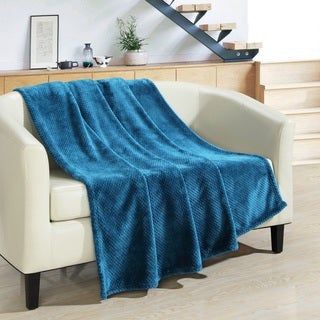 Chic Home 1-piece Strasbourg Ultra Plush Micro Mink Waffle Textured Decorative Throw Blanket