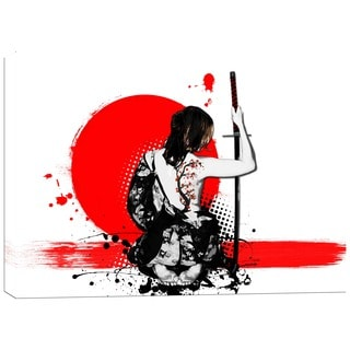 Cortesi Home 'Trash Polka- Female Samurai' by Nicklas Gustafsson Giclee Canvas Wall Art