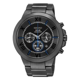 Seiko Men's SSC287 Recraft Series Solar Chronograph Black 100 Meter Watch
