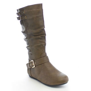 Beston CB42 Women's Buckle Slouch Boots
