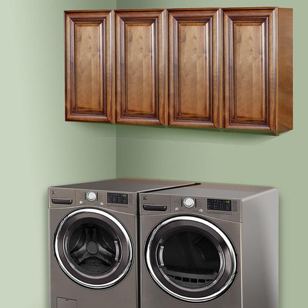 Bon Sedona Chestnut 60 Inch Laundry Room Cabinet Set