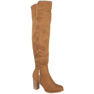 Beston GA24 Women's Over Knee High Zipper Boots