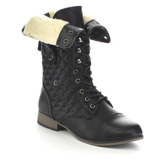 Beston GA82 Women's Lace Up Combat Boots