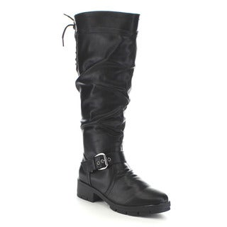 Beston GA88 Women's Lace Back Knee High Boots