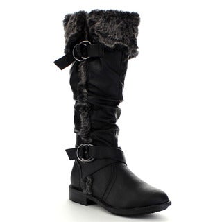 Beston CB30 Women's Slouch Knee High Snow Boots