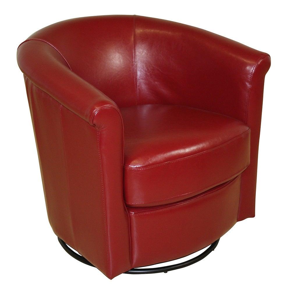 Marvelous Porter Marvel Red Swivel Barrel Accent Chair 29H X 31D X 31W Ibusinesslaw Wood Chair Design Ideas Ibusinesslaworg