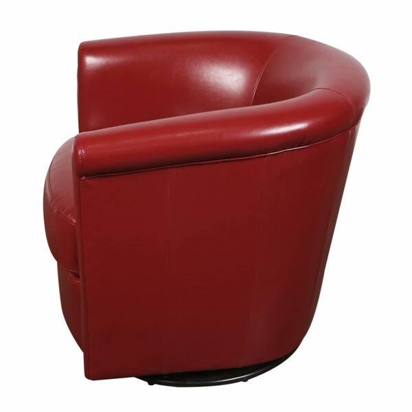 Wondrous Shop Porter Marvel Red Swivel Barrel Accent Chair 29H X Ibusinesslaw Wood Chair Design Ideas Ibusinesslaworg