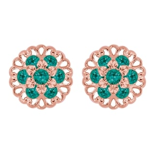 Lucia Costin Yellow Goldplated Sterling Silver Turquoise Green Crystal Earrings