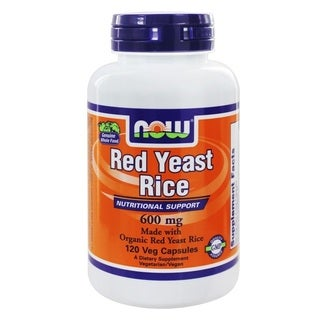 NOW Foods 600 Milligrams Red Yeast Rice (120 Veg Capsules)