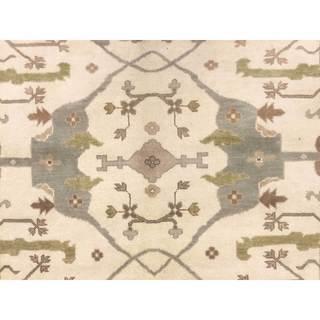 Oushak Jazman Ivory Hand-knotted Rug (9'3 x 11'8)