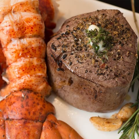 Chicago Steak Company 2 (6-oz) - Surf and Turf Filets and Lobster Tails