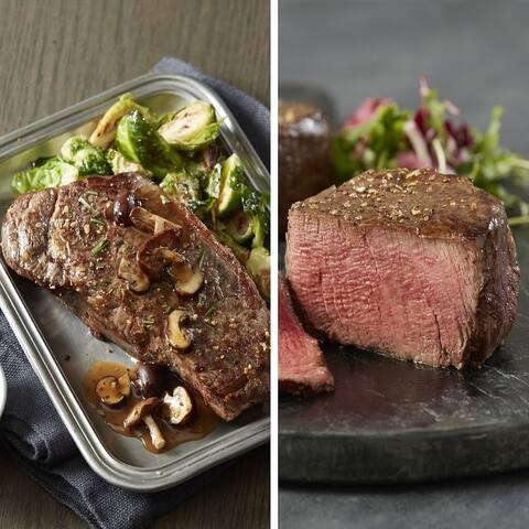 Chicago Steak Company Grand Filet & Strip Combo