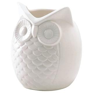 White Porcelain Owl Vase