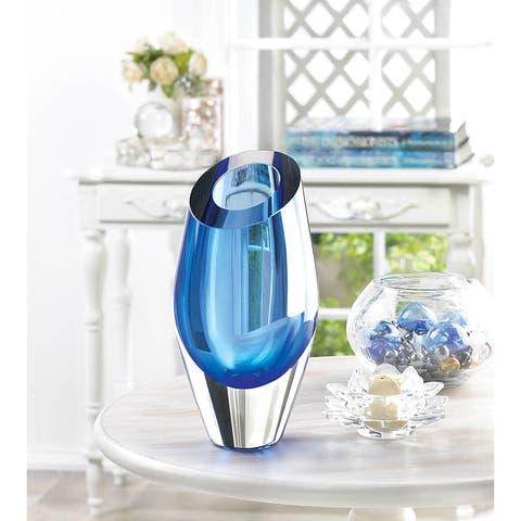 Copper Grove Senj Blue Glass Vase