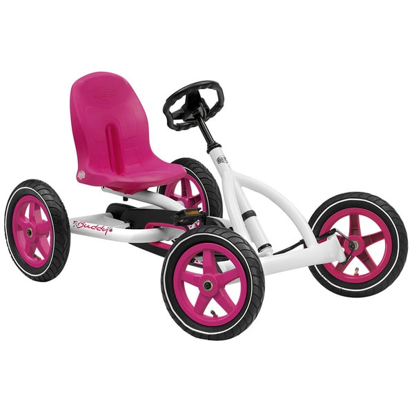 BERG Buddy White and Pink Pedal Car