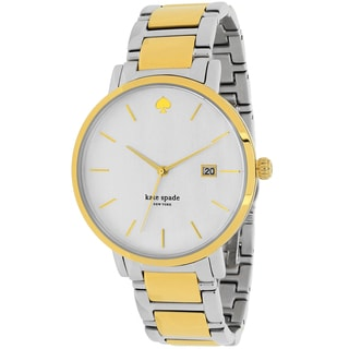 Kate Spade Women's 1YRU0108 Gramercy Grand Chronograph Round Two-tone Stainless Steel Bracelet Watch