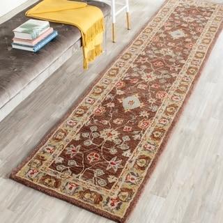 Safavieh Handmade Anatolia Brown/ Gold Wool Rug (2'3 x 14')