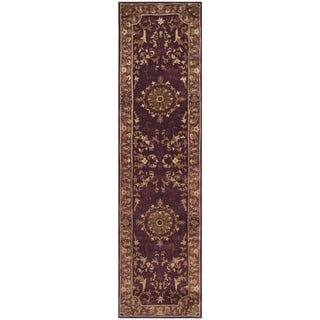 Safavieh Handmade Empire Dani Traditional Oriental Wool Rug (26 x 10 Runner - Burgundy)