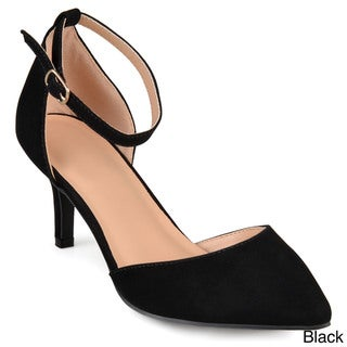 Journee Collection Women's 'Bay' Faux Suede Ankle Strap Pumps