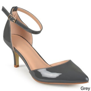 Journee Collection Women's 'Bay' Patent Ankle Strap Pumps