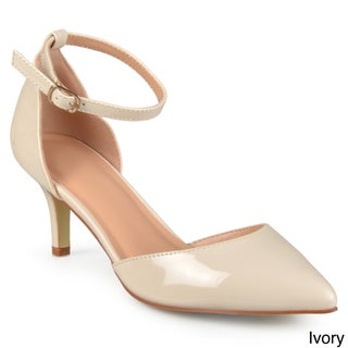 Journee Collection Women's 'Bay' Patent Ankle Strap Pumps (More options available)