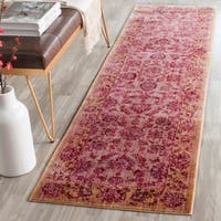 Safavieh Valencia Pink/ Multi Distressed Silky Polyester Rug - 2'3 x 8'