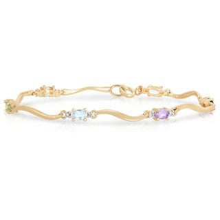 Collette Z Gold Plated Multi-Colored Cubic Zirconia Bracelet