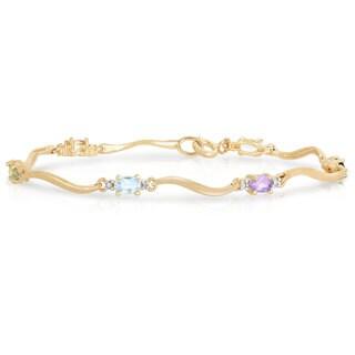 Collette Z Gold Plated Multi-Colored Cubic Zirconia Bracelet