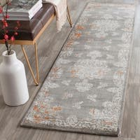 Safavieh Passion Watercolor Vintage Grey / Ivory Distressed Rug - 2'2 x 8'