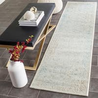 Safavieh Passion Watercolor Vintage Turquoise/ Ivory Distressed Rug - 2'2 x 8'