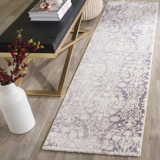Safavieh Passion Watercolor Vintage Lavender/ Ivory Distressed Rug (2'2 x 8')