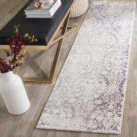 Safavieh Passion Watercolor Vintage Lavender/ Ivory Distressed Rug - 2'2 x 8'