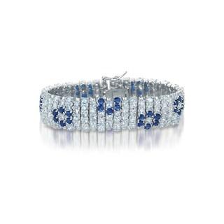 Collette Z Sterling Silver Blue Floral Fashion Bracelet