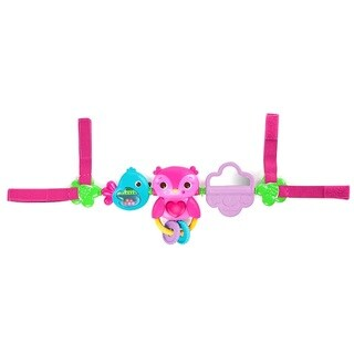 Bright Starts Pretty In Pink Busy Birdies Carrier Toy Bar
