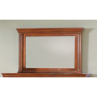Greenbriar Beveled Mirror Brown-Cherry