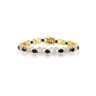 Collette Z Gold Plated and Black Cubic Zirconia Bracelet