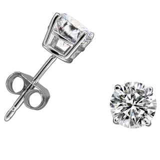 14k Gold 1ct TDW Diamond Round Stud Earrings (H-I, I2-I3)