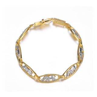Collette Z Sterling Silver Gold Plated and Cubic Zirconia Bracelet