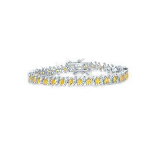 Collette Z Sterling Silver Yellow Cubic Zirconia Tennis Bracelet