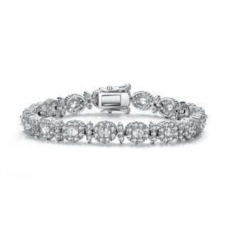 Collette Z Sterling Silver Cubic Zirconia Formal Bracelet
