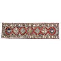 Red Runner Hand-knotted Pure Wool Super Kazak Oriental Rug (2'8 x 9'7)