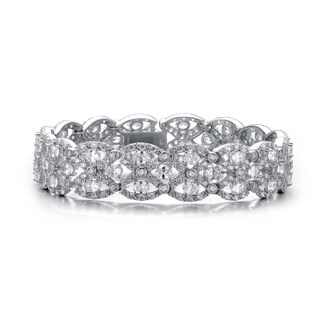 Collette Z Sterling Silver Cubic Zirconia Braided Bracelet