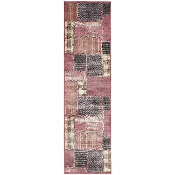 Safavieh Vintage Red/ Multi Patchwork Silky Viscose Rug (2'2 x 8')