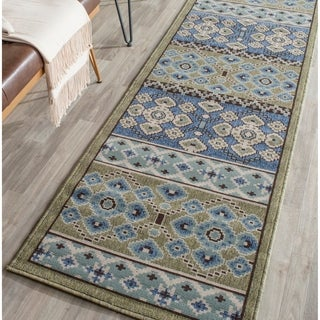 Safavieh Indoor/ Outdoor Veranda Green/ Blue Rug (2'3 x 8')