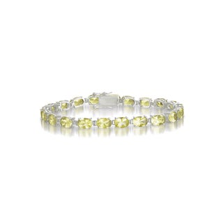Collette Z Sterling Silver Cubic Zirconia Yellow Bracelet