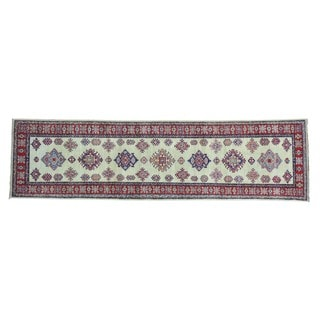 Geometric Design Handmade Runner Super Kazak Oriental Rug (2'9 x 9'10)