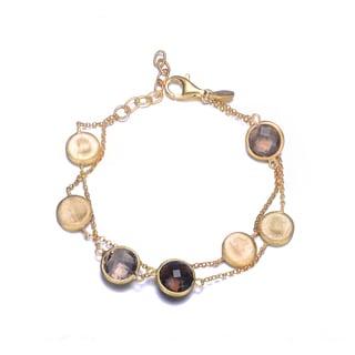 Collette Z Gold Plated Bronze Cubic Zirconia Bracelet